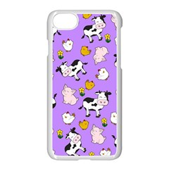 The Farm Pattern Apple Iphone 8 Seamless Case (white) by Valentinaart
