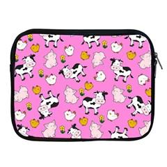 The Farm Pattern Apple Ipad 2/3/4 Zipper Cases by Valentinaart