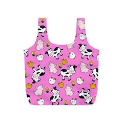 The Farm Pattern Full Print Recycle Bags (s)  by Valentinaart