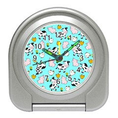 The Farm Pattern Travel Alarm Clocks by Valentinaart