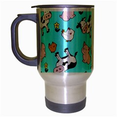 The Farm Pattern Travel Mug (silver Gray) by Valentinaart