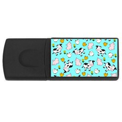 The Farm Pattern Rectangular Usb Flash Drive by Valentinaart