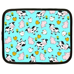 The Farm Pattern Netbook Case (xl)  by Valentinaart