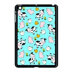 The Farm Pattern Apple Ipad Mini Case (black) by Valentinaart