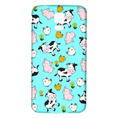 The Farm Pattern Samsung Galaxy S5 Back Case (white) by Valentinaart