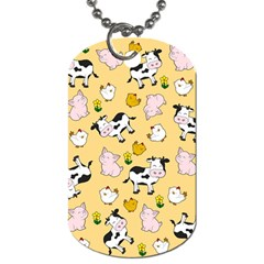 The Farm Pattern Dog Tag (one Side) by Valentinaart