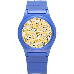 The Farm Pattern Round Plastic Sport Watch (s) by Valentinaart