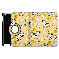 The Farm Pattern Apple Ipad 2 Flip 360 Case by Valentinaart