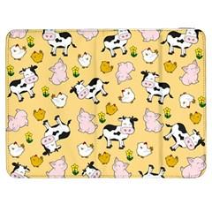 The Farm Pattern Samsung Galaxy Tab 7  P1000 Flip Case by Valentinaart