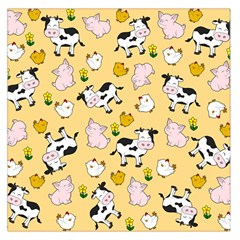 The Farm Pattern Large Satin Scarf (square) by Valentinaart
