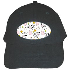 The Farm Pattern Black Cap by Valentinaart