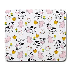 The Farm Pattern Large Mousepads by Valentinaart