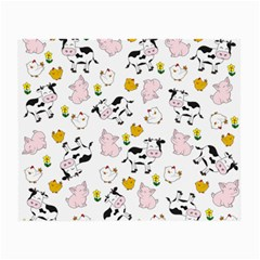 The Farm Pattern Small Glasses Cloth (2 Side) by Valentinaart