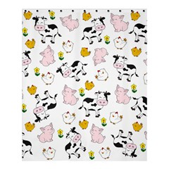 The Farm Pattern Shower Curtain 60  X 72  (medium)  by Valentinaart