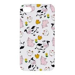 The Farm Pattern Apple Iphone 4/4s Premium Hardshell Case by Valentinaart
