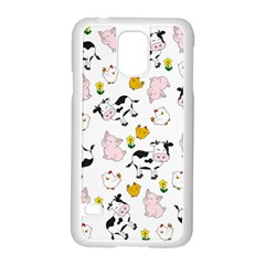 The Farm Pattern Samsung Galaxy S5 Case (white) by Valentinaart