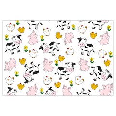 The Farm Pattern Canvas Cosmetic Bag (large)