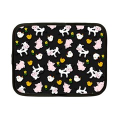 The Farm Pattern Netbook Case (small)  by Valentinaart
