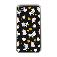 The Farm Pattern Apple Iphone 4 Case (clear) by Valentinaart