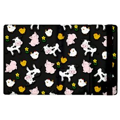 The Farm Pattern Apple Ipad 3/4 Flip Case by Valentinaart