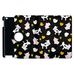 The Farm Pattern Apple Ipad 3/4 Flip 360 Case by Valentinaart