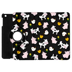 The Farm Pattern Apple Ipad Mini Flip 360 Case by Valentinaart