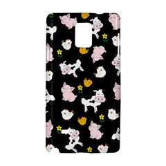 The Farm Pattern Samsung Galaxy Note 4 Hardshell Case by Valentinaart