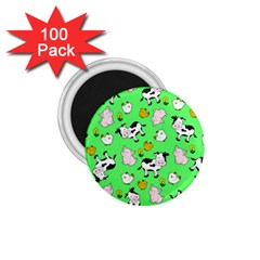 The Farm Pattern 1 75  Magnets (100 Pack)  by Valentinaart