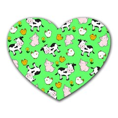 The Farm Pattern Heart Mousepads by Valentinaart