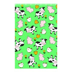 The Farm Pattern Shower Curtain 48  X 72  (small)  by Valentinaart