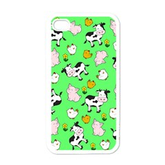 The Farm Pattern Apple Iphone 4 Case (white) by Valentinaart