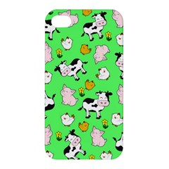 The Farm Pattern Apple Iphone 4/4s Premium Hardshell Case by Valentinaart