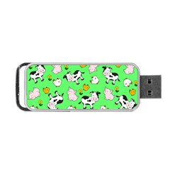 The Farm Pattern Portable Usb Flash (one Side) by Valentinaart