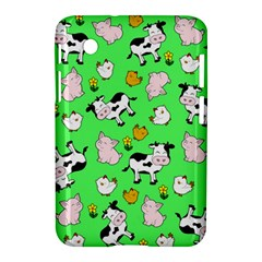 The Farm Pattern Samsung Galaxy Tab 2 (7 ) P3100 Hardshell Case  by Valentinaart