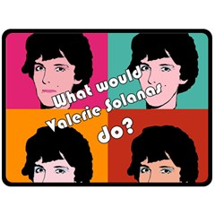 Valerie Solanas Fleece Blanket (large)  by Valentinaart