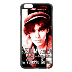 Valerie Solanas Apple Iphone 6 Plus/6s Plus Black Enamel Case by Valentinaart