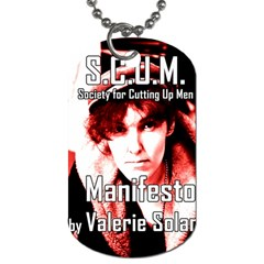 Valerie Solanas Dog Tag (two Sides) by Valentinaart