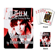 Valerie Solanas Playing Card by Valentinaart