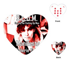 Valerie Solanas Playing Cards (heart)  by Valentinaart