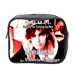 Valerie Solanas Mini Toiletries Bag 2 Side by Valentinaart