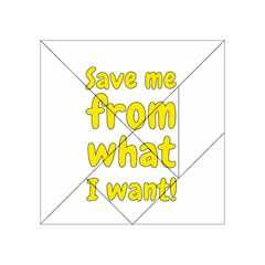 Save Me From What I Want Acrylic Tangram Puzzle (4  X 4 ) by Valentinaart