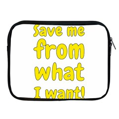 Save Me From What I Want Apple Ipad 2/3/4 Zipper Cases by Valentinaart