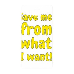 Save Me From What I Want Samsung Galaxy Alpha Hardshell Back Case by Valentinaart