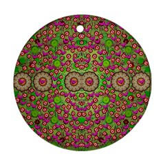 Love The Wood Garden Of Apples Ornament (round) by pepitasart