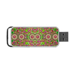 Love The Wood Garden Of Apples Portable Usb Flash (one Side) by pepitasart