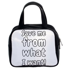 Save Me From What I Want Classic Handbags (2 Sides) by Valentinaart