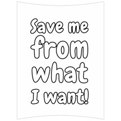 Save Me From What I Want Back Support Cushion by Valentinaart