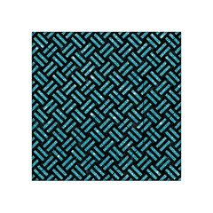 Woven2 Black Marble & Turquoise Glitter (r) Acrylic Tangram Puzzle (4  X 4 ) by trendistuff