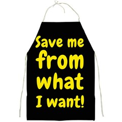 Save Me From What I Want Full Print Aprons by Valentinaart