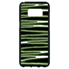 Sketched Wavy Stripes Pattern Samsung Galaxy S8 Black Seamless Case by dflcprints